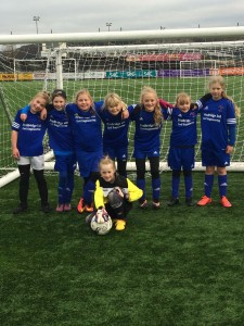 Northop Hall Girls FC Under 10s in new kit